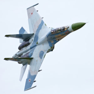 Russian fighter Sukhoi Su-34 flying